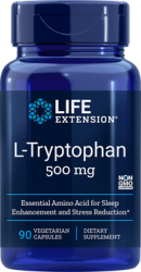 L-Tryptophan 500 mg, 90 vegetarian capsules. Life Extension