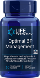 Optimal BP Management 60 tablets Life Extension