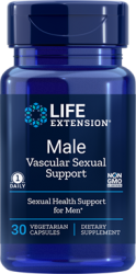 Male Vascular Sexual Support 30 vegetarian capsules L.E.