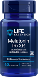 Melatonina IR / XR 60 cápsulas Life Extension