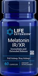 Melatonina IR / XR 60 cápsulas Life Extension