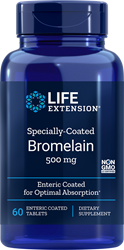 Specially-Coated Bromelain500 mg, 60 enteric coated tablets Life Extension