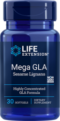 Mega GLA with Sesame Lignans  30 softgels Life Extension