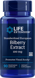 Standardized European Bilberry Extract 100 mg, 90 vegetarian capsules Life Extension