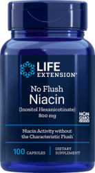 No Flush Niacin Inositol Hexanicotinate  800 mg, 100 capsules  Life E.
