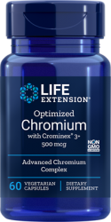 Optimized Chromium with Crominex® 3+500 mcg, 60 vegetarian capsules  Life Extension