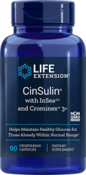 CinSulin® with InSea2® and Crominex® 3+ 90 vegetarian capsules Life Extension