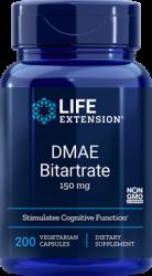 DMAE Bitartrate  150 mg, 200 vegetarian capsules Life Extension