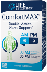 ComfortMAX™ 30 AM vegetarian tablets, 30 PM vegetarian tablets Life Extension