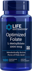 Optimized Folate (L-Methylfolate) 1000 mcg, 100 vegetarian tablets Life Extension