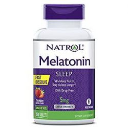 Natrol Melatonin Fast Dissolve Strawberry -- 5 mg - 150 Tablets