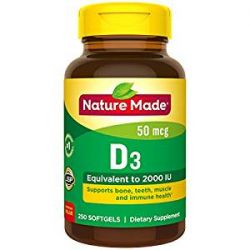 Nature Made Vitamin D 2000 IU Softgels - 250ct