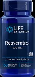 Resveratrol  100 mg, 60 vegetarian capsules Life Extension