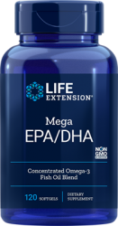 Mega EPA/DHA  120 softgels  Life Extension