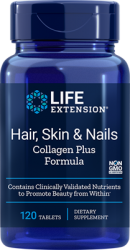Hair, Skin & Nails Collagen Plus Formula 120 tablets Life Extension