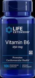 Vitamin B6 250 mg, 100 vegetarian capsules Life Extension