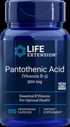 Pantothenic Acid (Vitamin B-5) 500 mg, 100 vegetarian capsules Life Extension