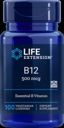 Vitamin B12 500 mcg, 100 lozenges Life Extension
