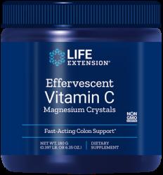 Effervescent Vitamin C Magnesium Crystals      180 grams L.E.