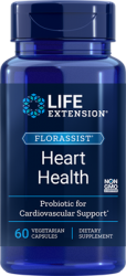 FLORASSIST® Heart Health, 60 vegetarian capsules, When Choosing A Probiotic, Follow Your HeartL.E.