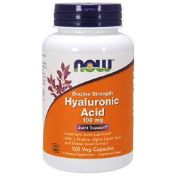 NOW Foods Hyaluronic Acid Double Strength 120 Veg Caps.