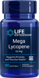 Mega Lycopene  15 mg, 90 softgels Life Extension