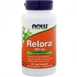 NOW Foods Vegetarian Relora Stress & Appetite Control, 300mg, 60 Ct