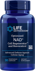 Optimized NAD+ Cell Regenerator™ with Resveratrol 30 vegetarian capsules Life Extension