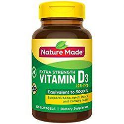 Nature Made® Vitamin D3 5000 UI, 220 Softgels
