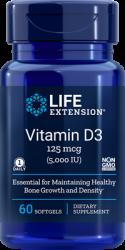 Vitamin D3  5,000 IU, 60 softgels Life Extension