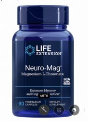 Neuro-Mag® Magnesium L-Threonate  90 vegetarian capsules  Life Extension