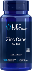 Zinc  50 mg, High Potency 90 vegetarian capsules Life Extension