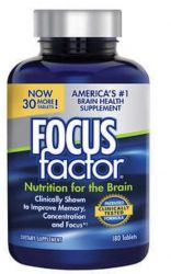 FOCUSfactor Nutrition for the Brain Dietary Supplement, 180 Tablets