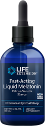 Fast-Acting Liquid Melatonin  Natural Citrus-Vanilla Flavor 2 fl oz (59 mL) Life Extension