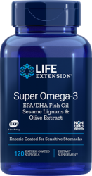 Super Omega  3 EPA/DHA with Sesame Lignans & Olive Extract  120 enteric coated softgels L.E.