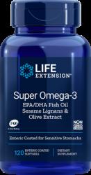 Super Omega  3 EPA/DHA with Sesame Lignans & Olive Extract  120 enteric coated softgels