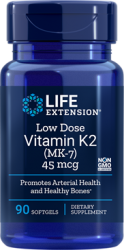 Low Dose Vitamin K2 Mk-7 45 MCG (90 Softgels) Life Extension