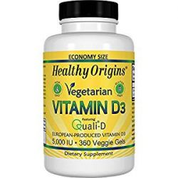 Healthy Origins Vitamin D3 Gels 10, 000 Lanolin Gels, 360 Count