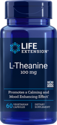 L-Theanine  100 mg, 60 vegetarian capsules - Life Extension