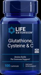 Glutathione, Cysteine & C  100 vegetarian capsules Life Extension