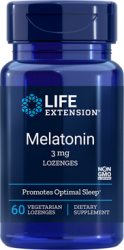 Melatonin  3 mg, Sublingual - 60 vegetarian lozenges Life Extension