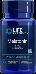 Melatonin  3 mg, Sublingual - 60 vegetarian lozenges Life Extension