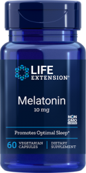 Melatonin  10 mg, 60 capsules Life Extension