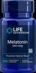 Melatonin  300 mcg, 100 vegetarian capsules Life Extension