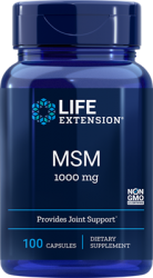 MSM (Methylsulfonylmethane)  1000 mg, 100 capsules Life Extension