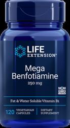 Mega Benfotiamine 250 mg, 120 vegetarian capsules Life Extension
