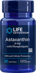 Astaxanthin with Phospholipids 4 mg, 30 softgels  Life Extension