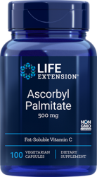 Ascorbyl Palmitate 500 mg, 100 vegetarian capsules - Life Extension