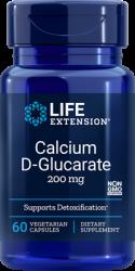 Calcium D-Glucarate   200 mg, 60 vegetarian capsules Life Extension