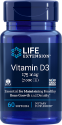 Vitamin D3      175 mcg (7000 IU), 60 softgels L.E.